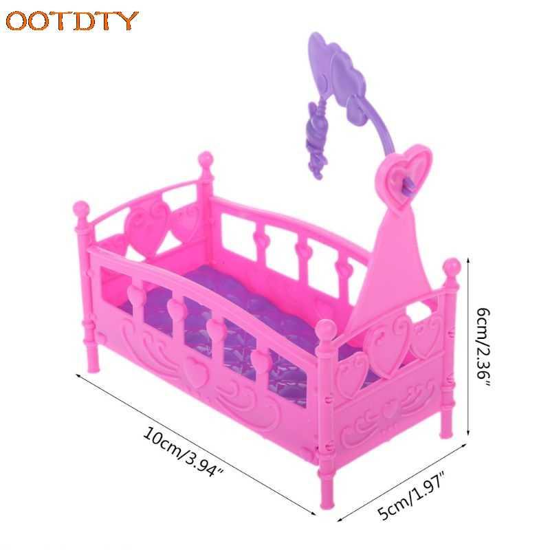 Casa de Bonecas Mobiliário Brinquedo de balanço Cama Berço Para Acessórios Da Boneca Barbie Kelly Meninas de Brinquedo de Presente