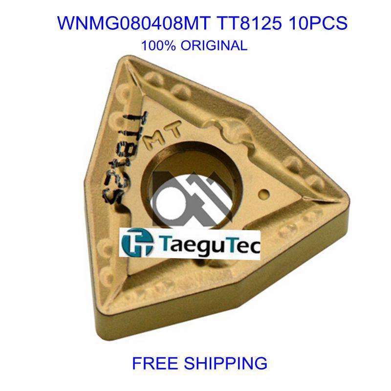 WNMG080408MT TT8125 10pcs Carbide Inserts Taegutec