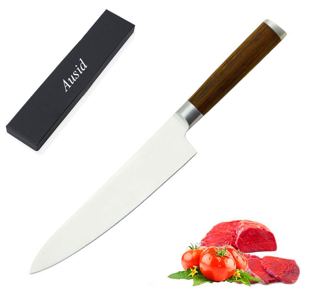 top quality kitchen knives ausid chef knife 8 quot professional kitchen knives top grade japanese high quality stainless steel 6179