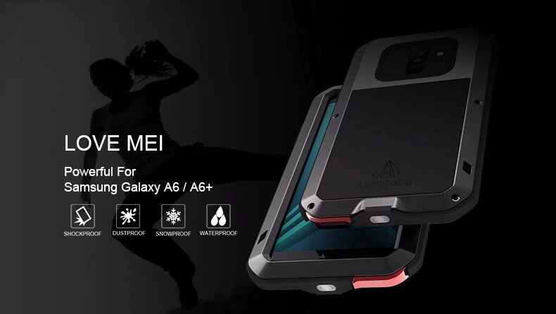the latest f7aaa 3face Love Mei Brand Powerful case for Samsung Galaxy A6 2018 Life Waterproof  Aluminum Metal Tough Shockproof for Samsung A6 Plus 2018-in Fitted Cases  from ...
