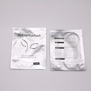 Image 2 - 200 Pairs kirpik uzatma kağıt yama Lint ücretsiz göz İpuçları Sticker sarar kirpik makyaj araçları göz yastık pedleri toptan