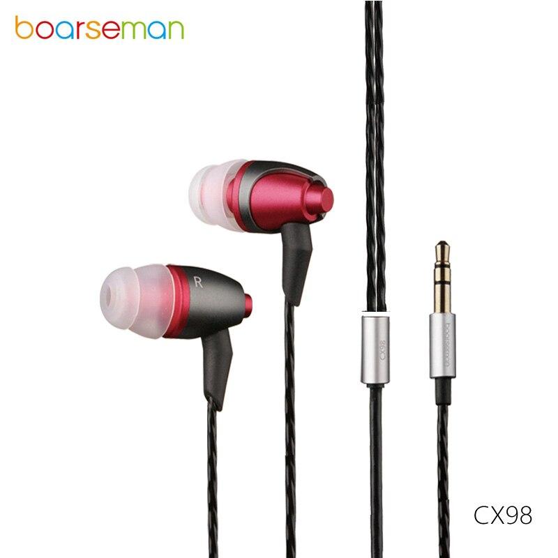 Boarseman CX98 Fièvre Écouteurs Sport de Course Filaire Écouteurs 3.5mm In-Ear Écouteurs Super Bass Équilibrage Hifi Casques Pour Xiaomi