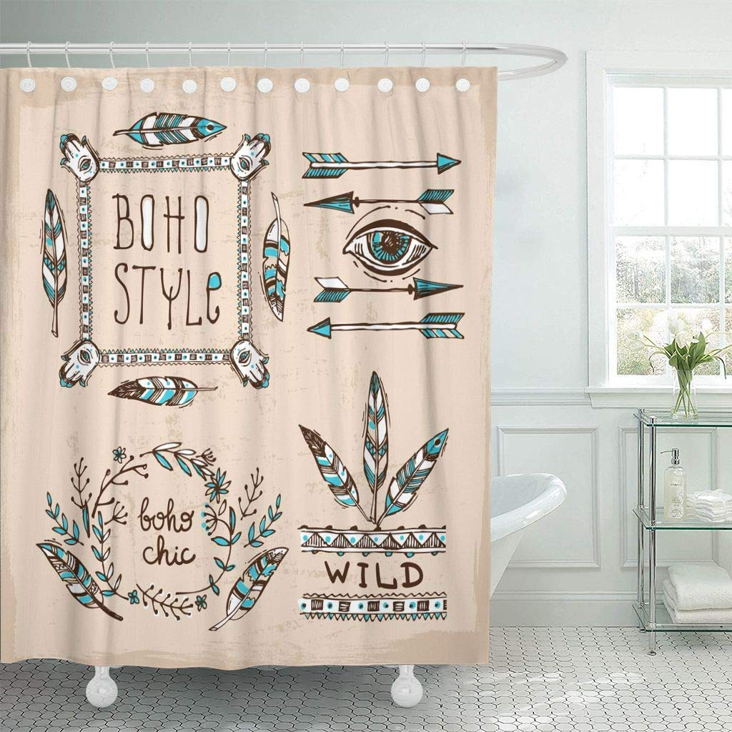 shower curtain chic of boho style