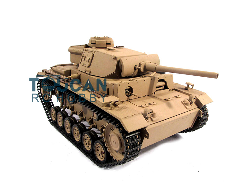 100% Metal Mato 1/16 Panzer III RTR RC Tank Infrared Barrel Recoil Yellow 1223 mato 100