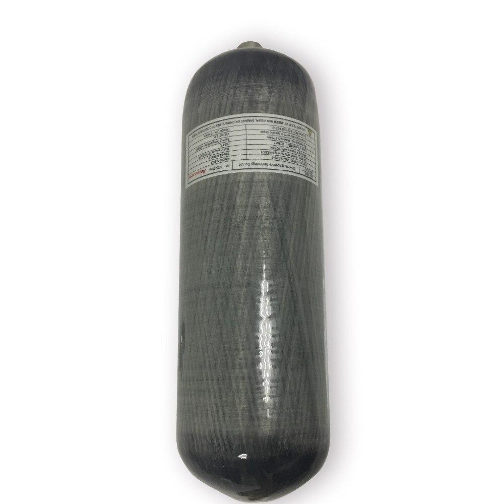 AC1090 chine haute qualité 9L Composite réservoir de plongée, haute pression enroulé carbone cylindre de plongée à vendre-V livraison directe
