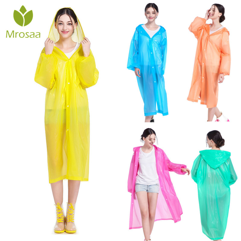 EVA Transparent Raincoat Outdoor Travel Rainwear Waterproof Camping Cover New