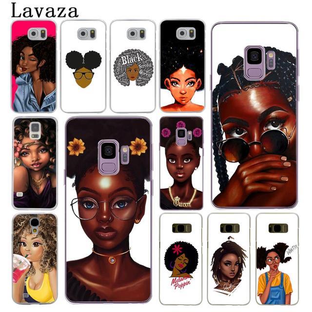 NAIROBI Coque de téléphone Beauté Africaine Afro Puffs Noir Fille Dur Téléphone Shell Cas pour Samsung Galaxy S8 Plus S9 Plus S3 S4 s5 S6 S7 Bord Couverture