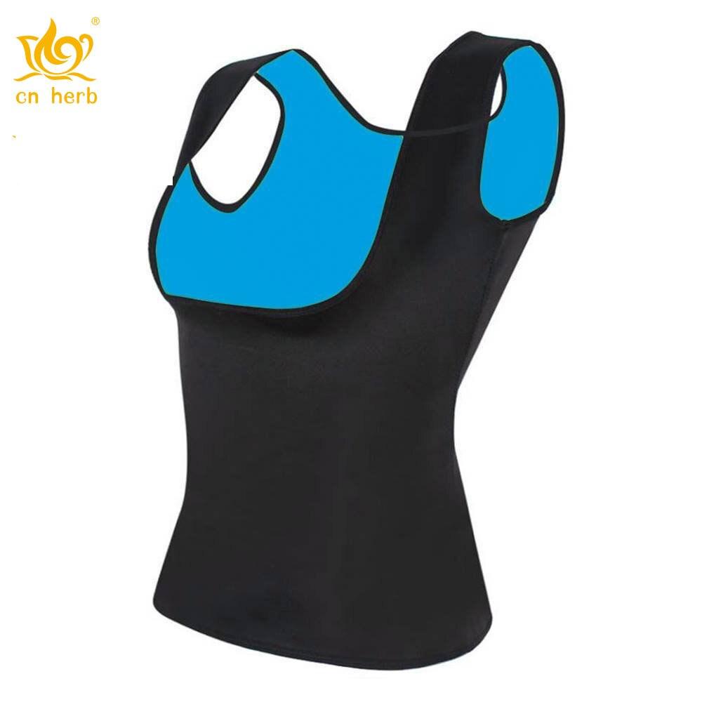 Cn Erva Quente das Mulheres Camisa de Suor Emagrecimento Neoprene Colete Shapers Do Corpo Para Perda de Peso