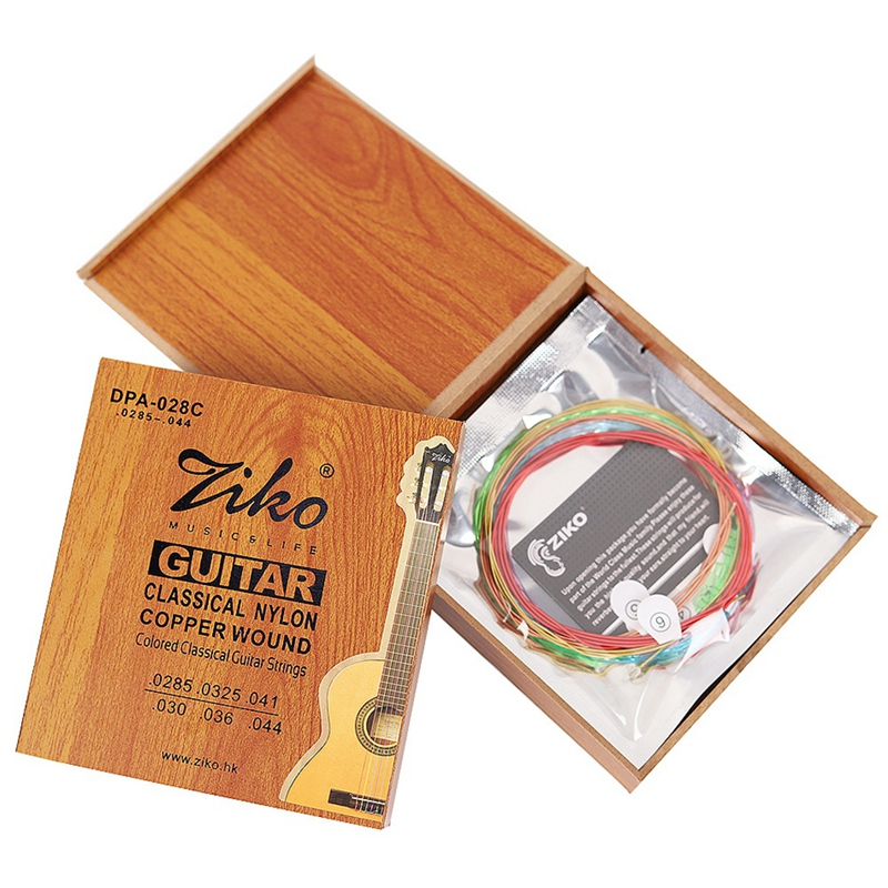 Ziko Dpa-028C Professional Classical Guitar Strings 0285-044 Colorful Nylon Coated C Wound 3