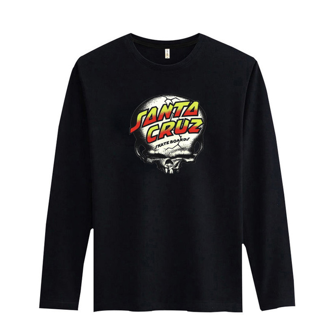 New Santa Cruz White T-Shirt Men and Fashion Men HipHop T Shirt Plus Size Gray Black White Color XXS-3XL Mens Hiphop Cotton Tees
