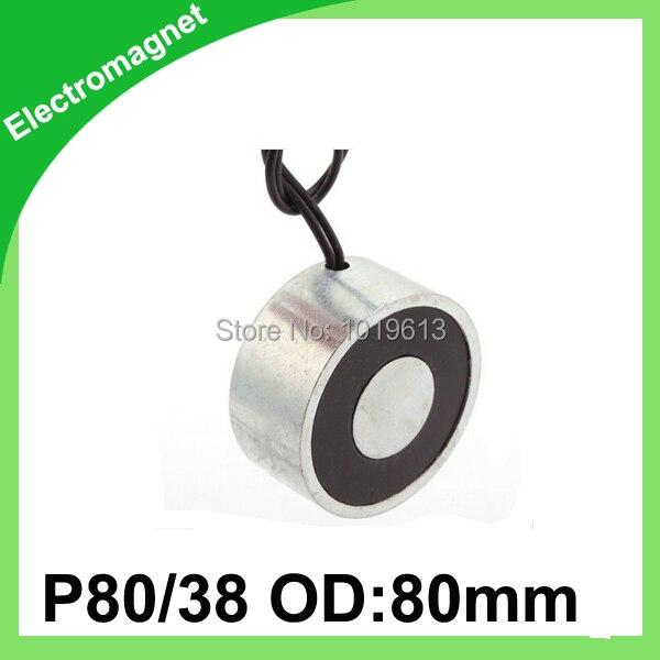 ФОТО 1000N Round Electro Holding Magnet DC Solenoid Electromagnet 12V DC