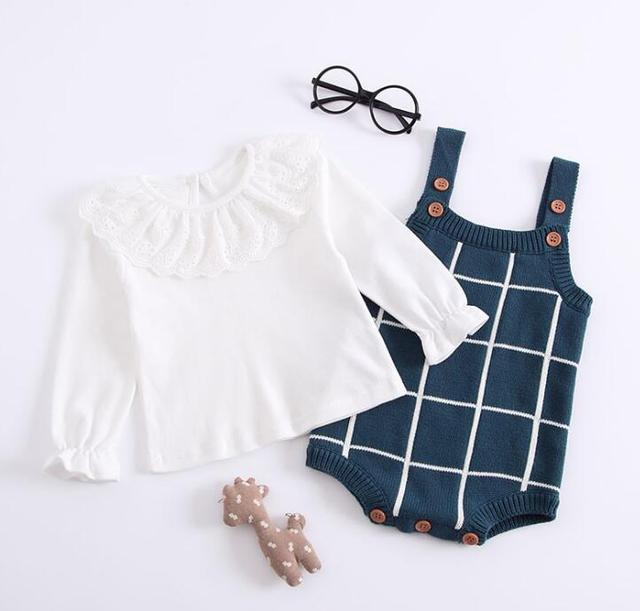 Baby Knitted Romper Cotton...