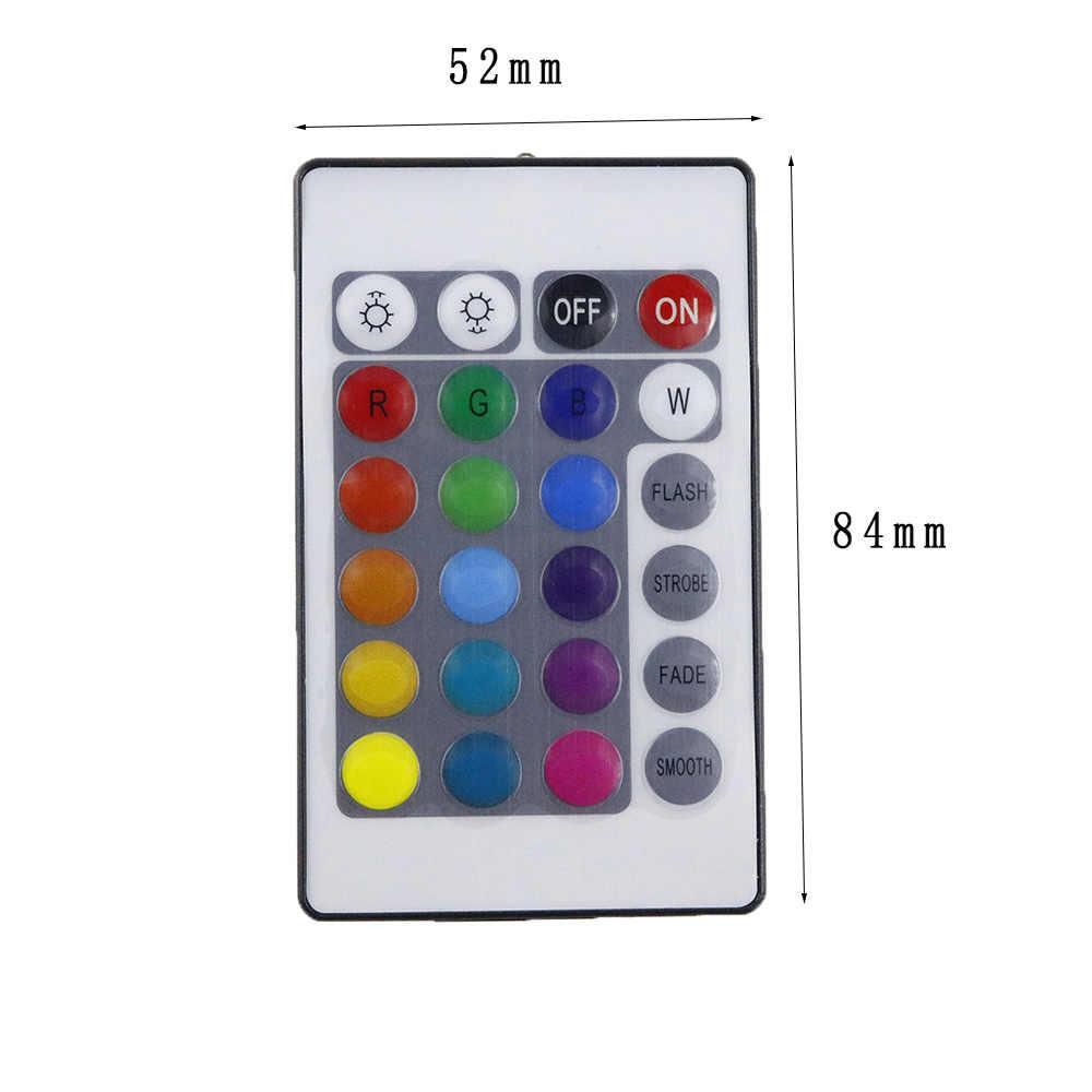 DC 12 V RGB светодиодный контроллер мини 24 клавиши RGB IR пульт дистанционного управления для 3528 или 5050 светодиодные RGB ленты небольшой контроллер RGB светодиодный лента