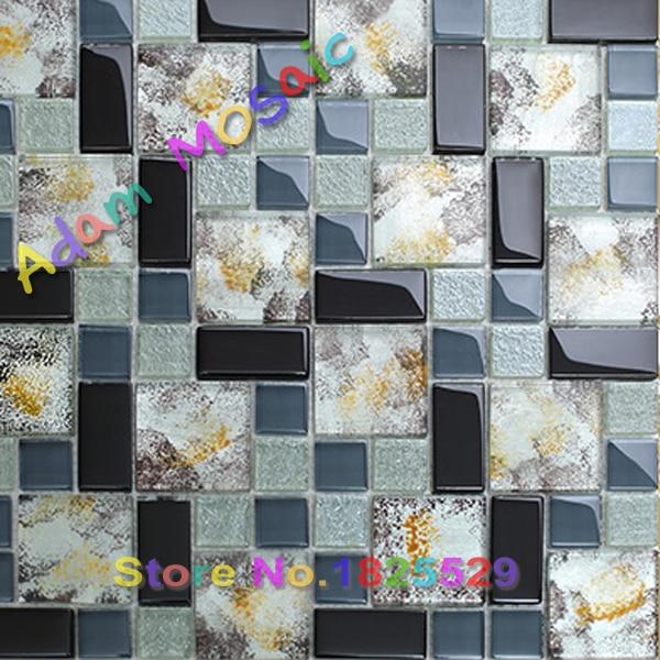 hand painted glass tiles subway art deco dark blue kitchen tiles backsplash shower wall interior design subway art