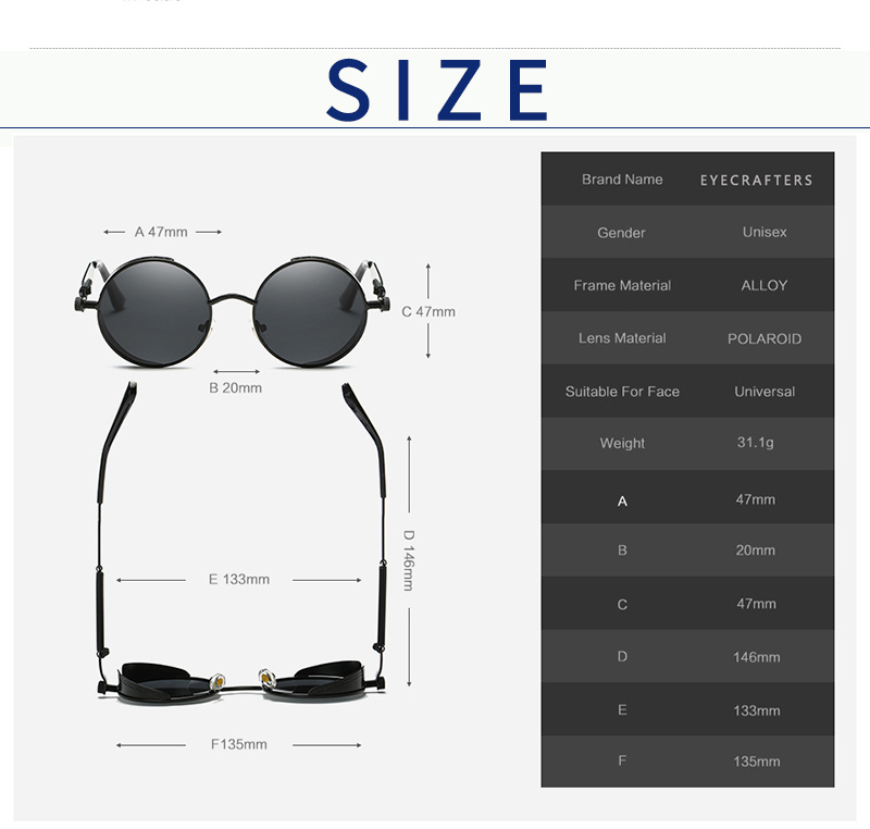 New Jersey Steampunk | Polarised Lenses, Vintage Style (9 Colors) | Dukesman.com