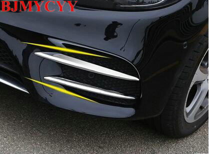BJMYCYY For Mercedes Benz E Class W213 2016 2017 Car-styling ABS Chrome Front Fog Lamp Cover Trim Accessories Set of 4pcs for mercedes benz w163 ml320 ml350 ml500 ml400 1998 2005 car styling front bumper fog lights halogen fog lamp