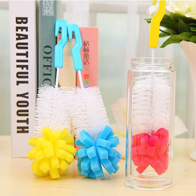 2017 Promotion Limited Plastic Pinceaux Baby Bottle Brushes Sponge Nipple Spout Tube Teat Feeding Cleaning Brush Cup