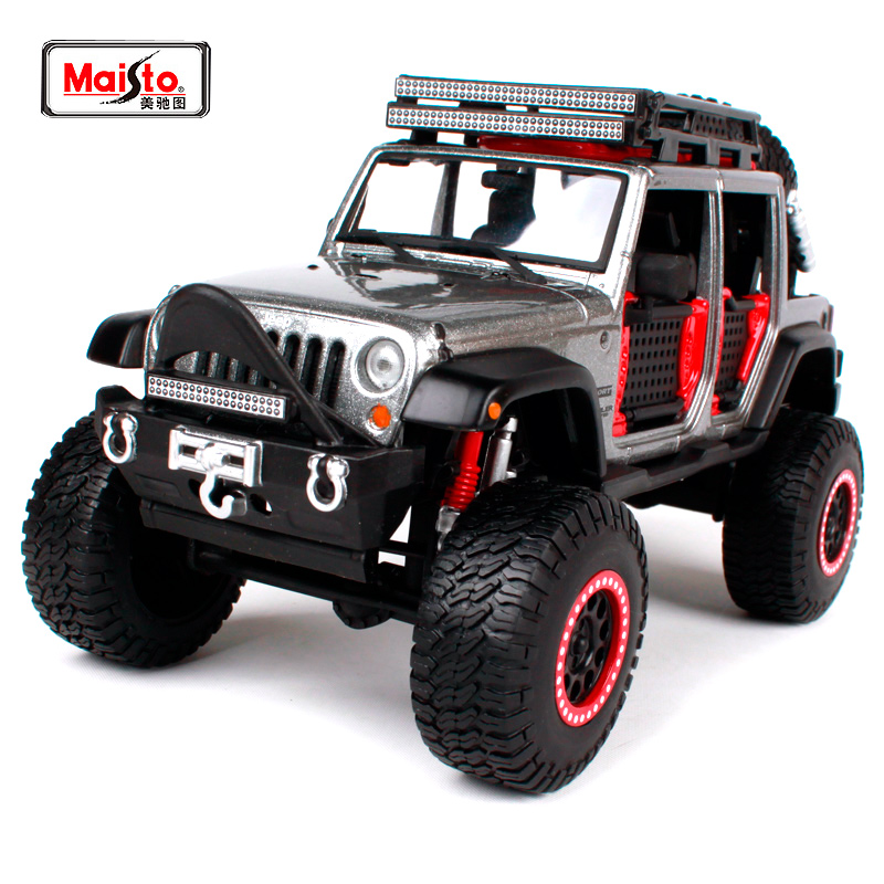 Maisto 1:24 OFF ROAD KINGS 2015 JEEP WRANGLER UNLIMITED Modified Suvs Diecast Model Car Toy New In Box Free Shipping 32523 maisto diecast car 1 18 scale jeep wrangler willys model car off road vehicle with openable doors toy for children gift page 5