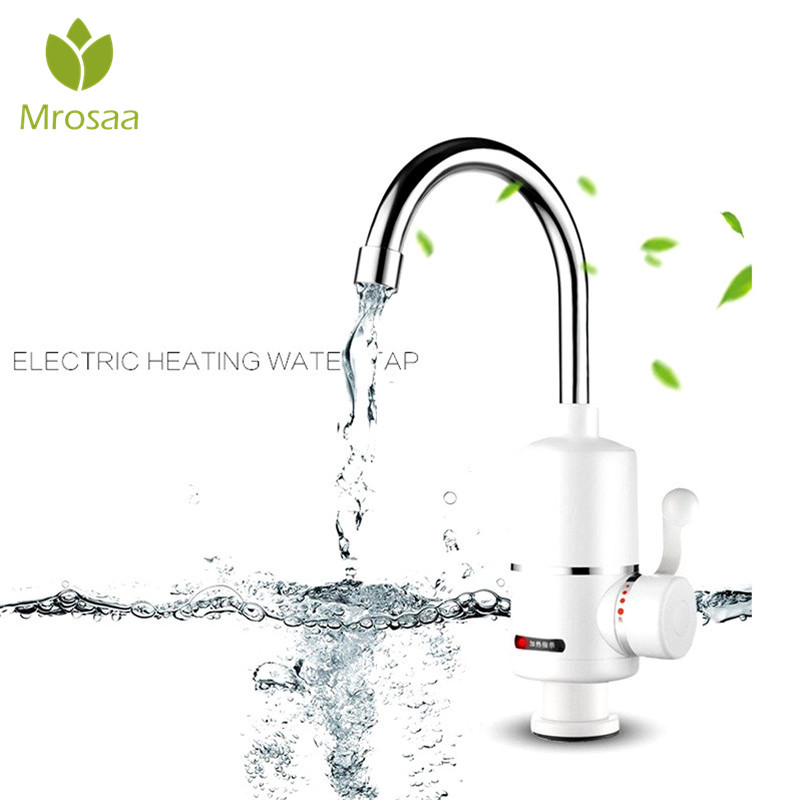 2000W Rotatable Bathroom Instant Hot Water Tap Electric Water Faucet Tankless Water Heater with Shower Head IPX4 Bath Shower Tap gwai duel handle 3 second instant water heater 360 degree rotatable pipe instant hot water faucet fast heat water tap drs x30f6