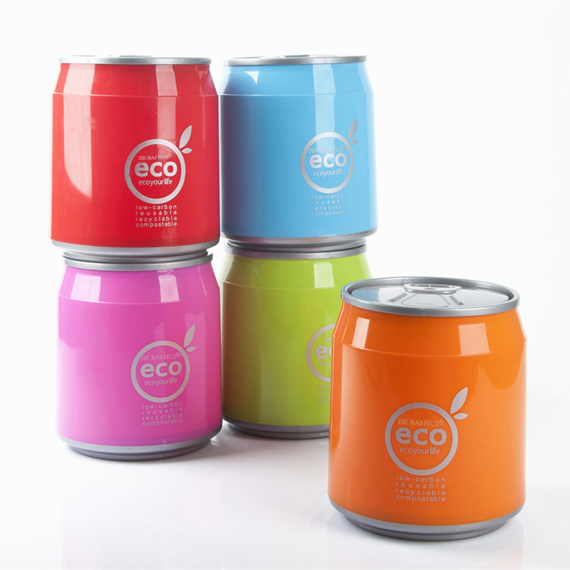 Coke cans desktop garbage bucket mini Small household office desk car tube with lid