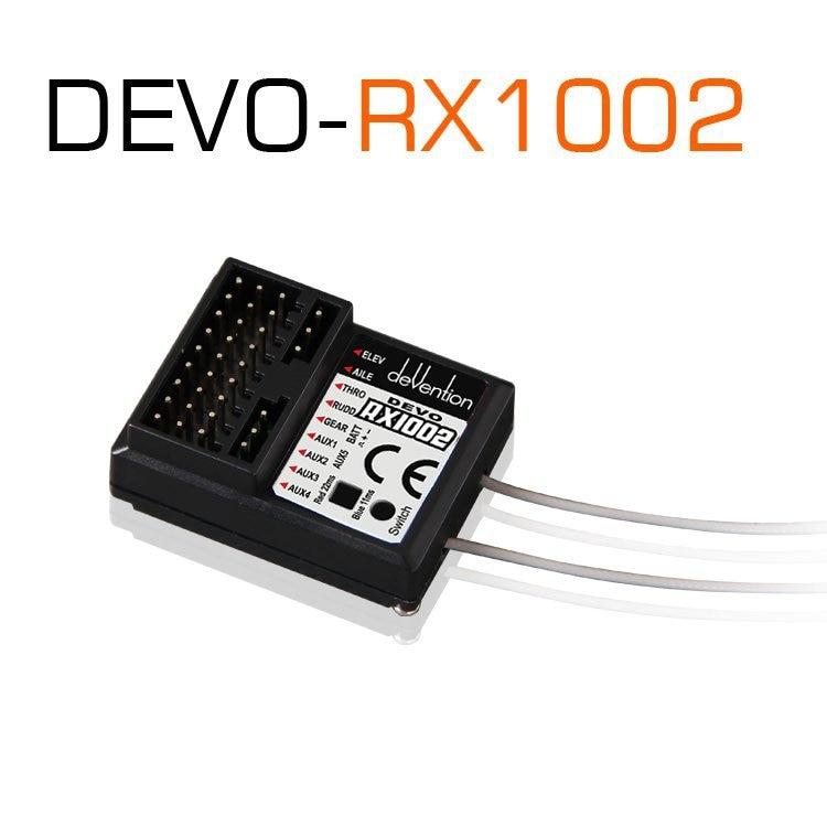 Walkera Devo RX1002 2.4G 10 channel 10ch Receiver compatible with DEVO 6 7 8 10 12 Transmitter F03962 original walkera devention receiver rx1002 2 4ghz 10 channel 10ch for devo10 tx compatible with devo 7 7e 8s 12s