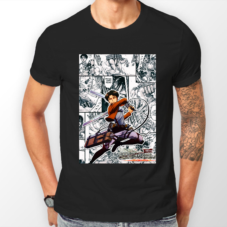 Attack on Titan Levi Shingeki No Kyojin Anime AOT Tshirt T-Shirt Tee ALL SIZES