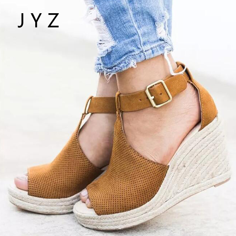 Fashion New Womens Sandals Summer Platform Pumps Wedges Shoes Peep Toe Shoe Lady aa0980 in High Heels from Shoes