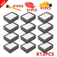 12cps Wasbare Hepa Filter Accessoires Voor Irobot Roomba Ik Serie E Serie I7 I7 + E5 E6 Stofzuiger Huishoudelijke alternatieve