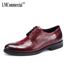 High top mens shoes Genuine Leather bullock carved Quality Lace-Up Business Men Shoes,Men Dress Shoes