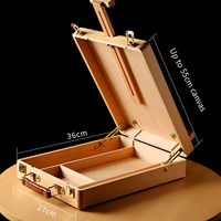 Elm portable oil painting box beginner portable sketching easel wooden multi purpose wood retro picture box art supplies