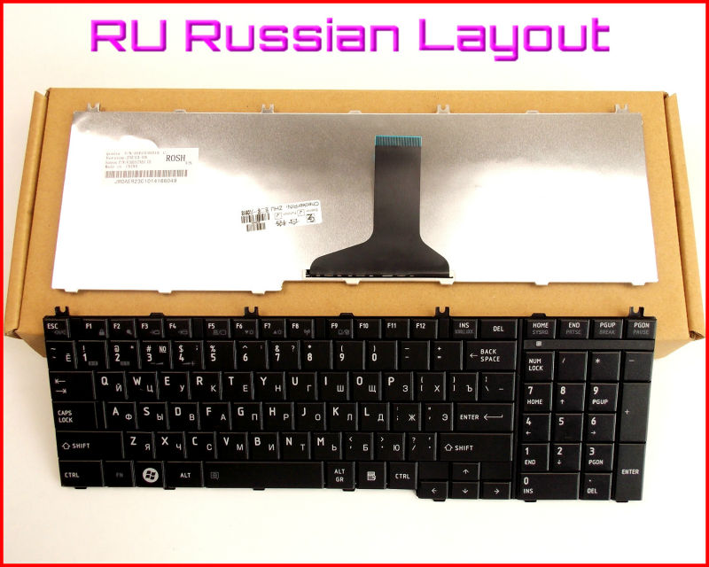 New Keyboard RU Russian Version for Toshiba Satellite C655 C655D C655-S5113 C655-S5061 C655-S5052 C655-S50521 Laptop Black