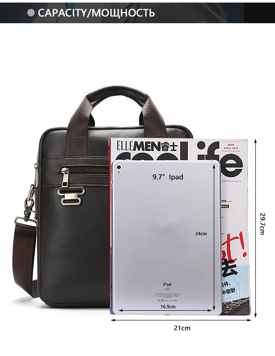 Men \' s Shoulder Bag Male Genuine Leather Crossbody Bags for Men Messenger Bag Casual Vintage Clutch Handbags bolsos 23