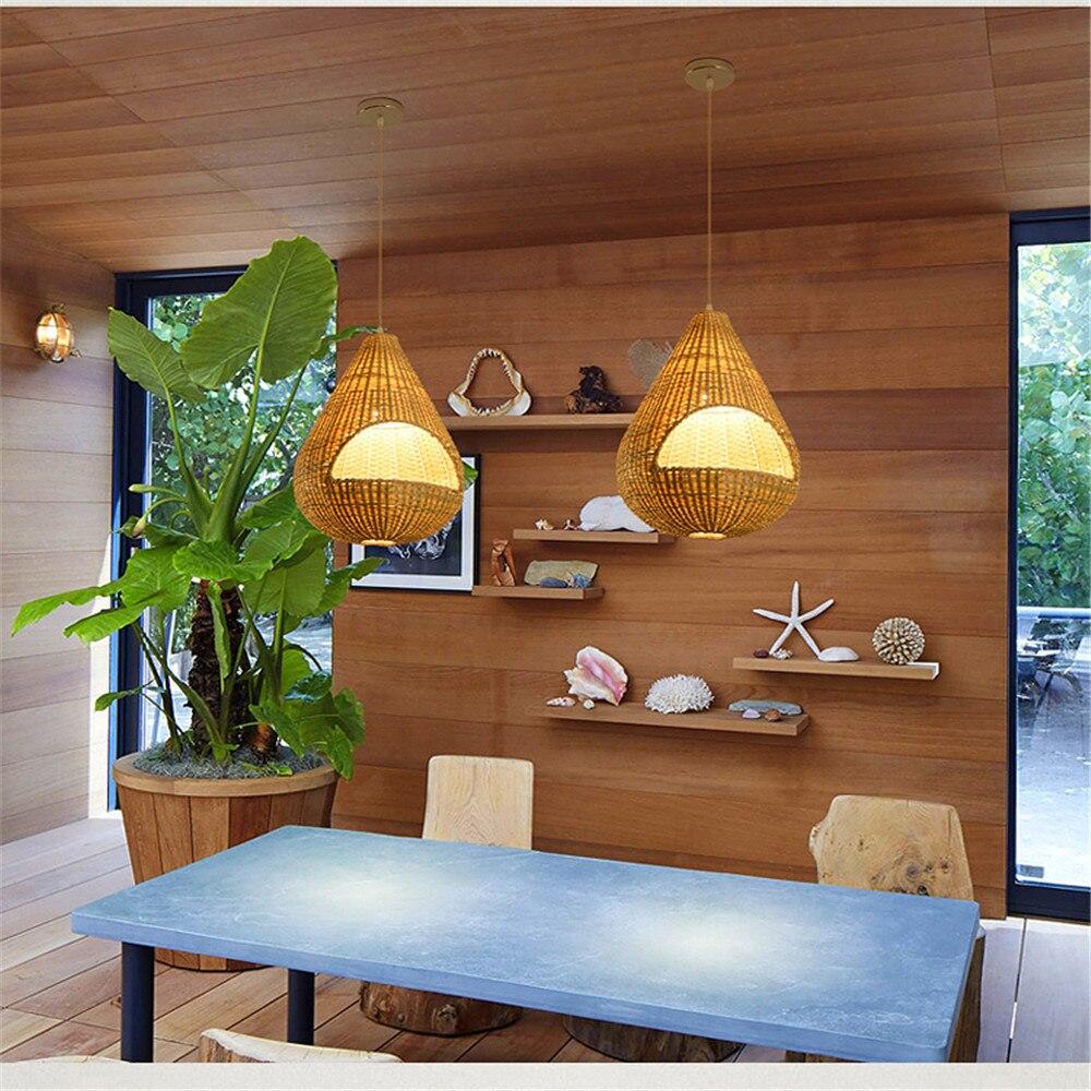 Southeast Asian garden bamboo Pendant Lights restaurant shops hotel ...