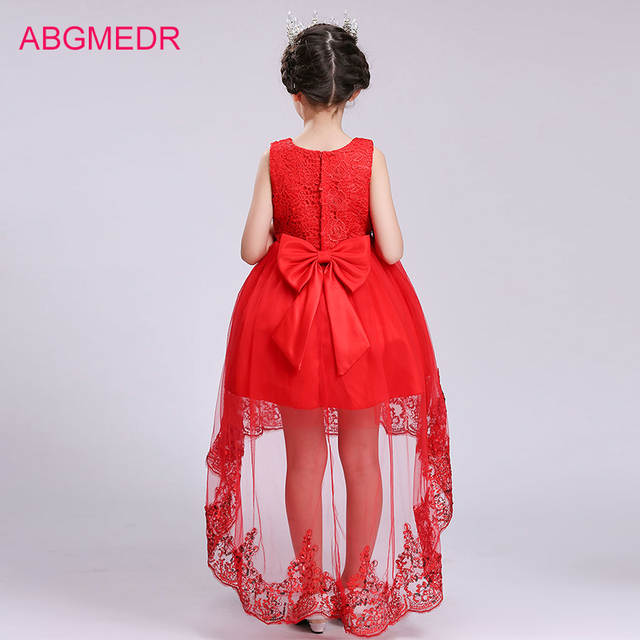 2018 Girls High Low Dresses for Wedding and Party Children Sequin Dress  with Tails Monsoon Kids 3f6e850d74dd