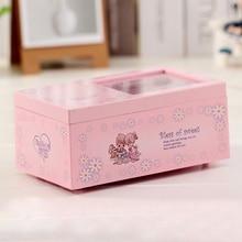 Lovely Girl Music Box Rectangle with Romantic Ballerina Children Musical Jewellery Box