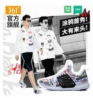 ВС Янь совместное дизайн 361 мужские туфли спортивные туфли 2018 осенние дышащие 361 градусов граффити повседневные кроссовки