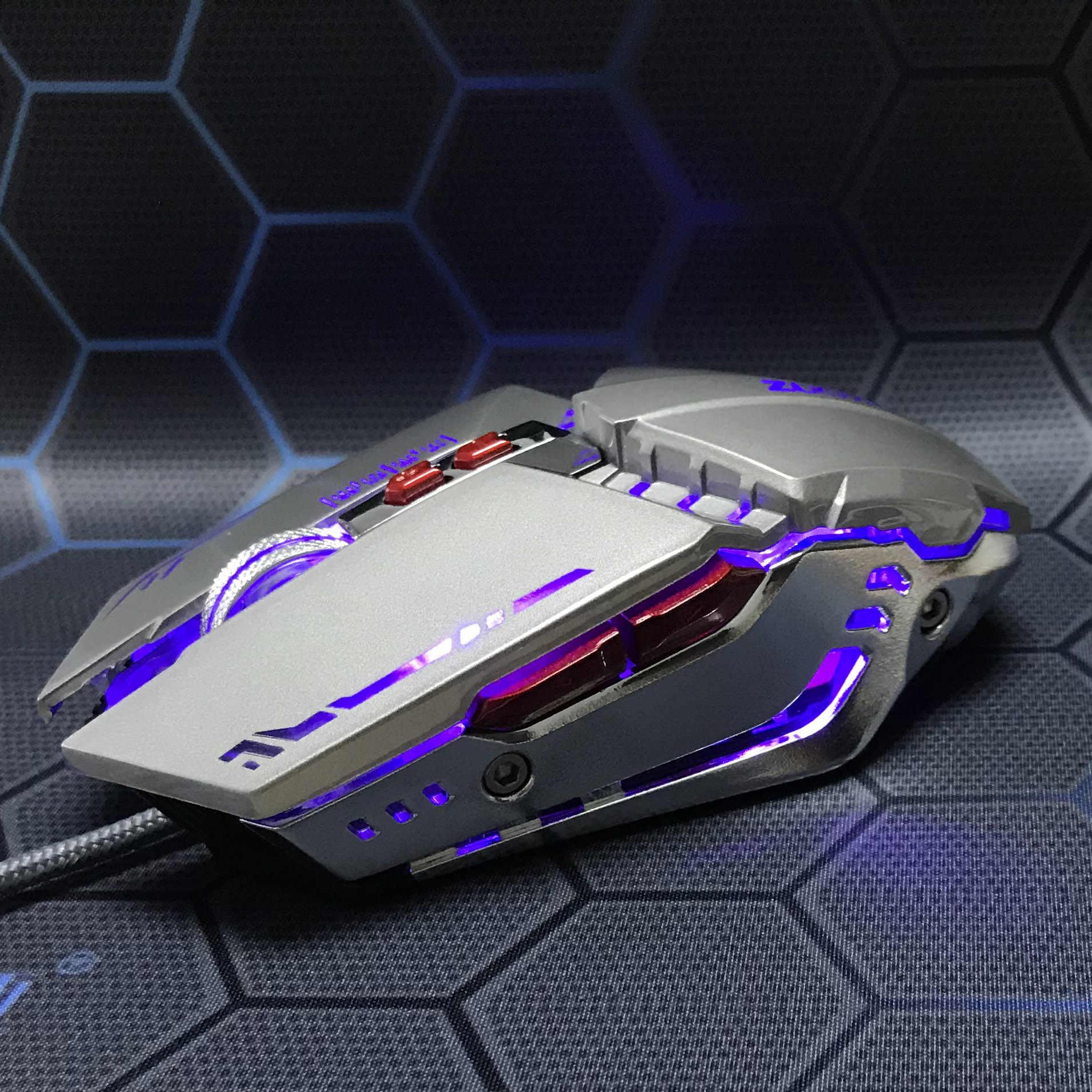 ZUOYA przewodowa mysz dla graczy z USB 7 przycisków dioda optyczna gra komputerowa myszy na PC Laptop Notebook dla graczy Gamer