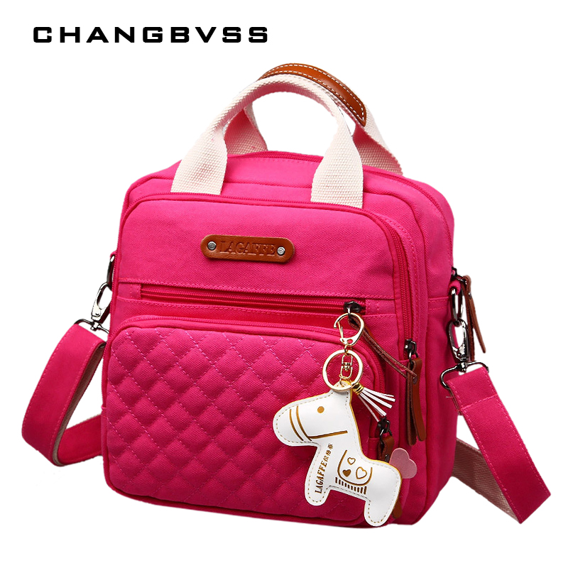 High Level Canvas Colorful Mommy Diaper Bag Baby Nappy Bags Maternity Mommy Women Backpack/Handbag/Messenger Three-In-One Bag Сумки для подгузников