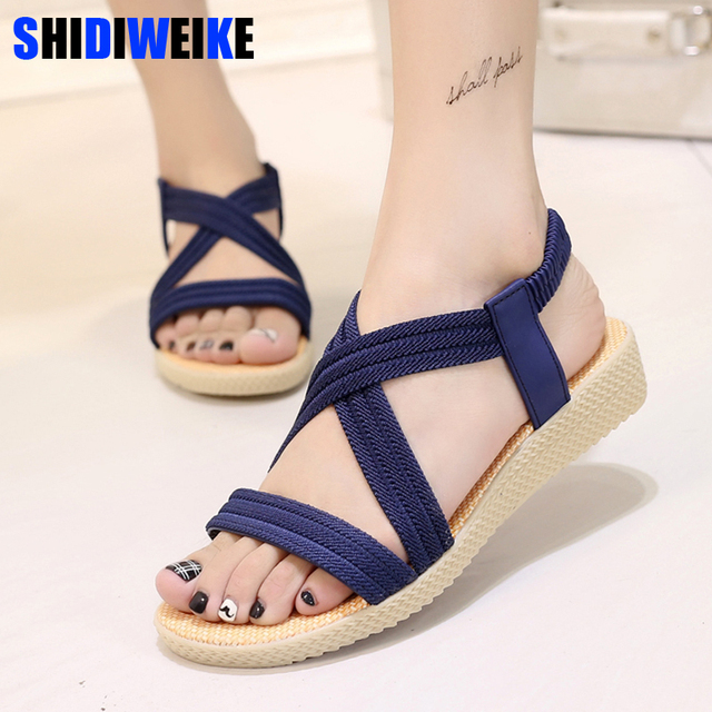 7e68f7649131 New Summer Women Sandals Bohemia Comfortable Ladies Shoes Beach Gladiator  Sandal Women Casual Shoes Simple Female Shoes m435
