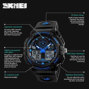 SKMEI Luxury Brand Men Sports Watches Digital Led Men Wristwatches 50m Water Resistant Relogio Masculino Quartz Watch For Man 3