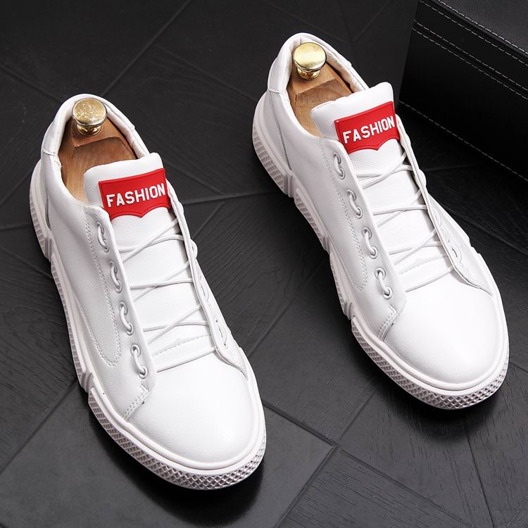 ERRFC Basic Classic Men White Shoes Fashion Lace Up Man Red Casual Comfort Shoes British Platform Trending Leisure Shoes Man 43-in Men's Casual Shoes from Shoes    1