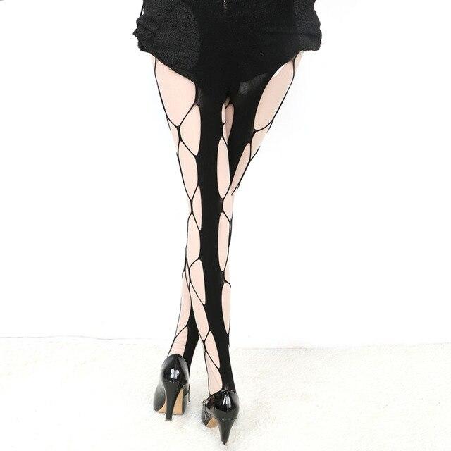 e87e56313 1PC Sexy Big Fishnet Stockings Black Color Sultry Hexagon Net Pantyhose  Tight