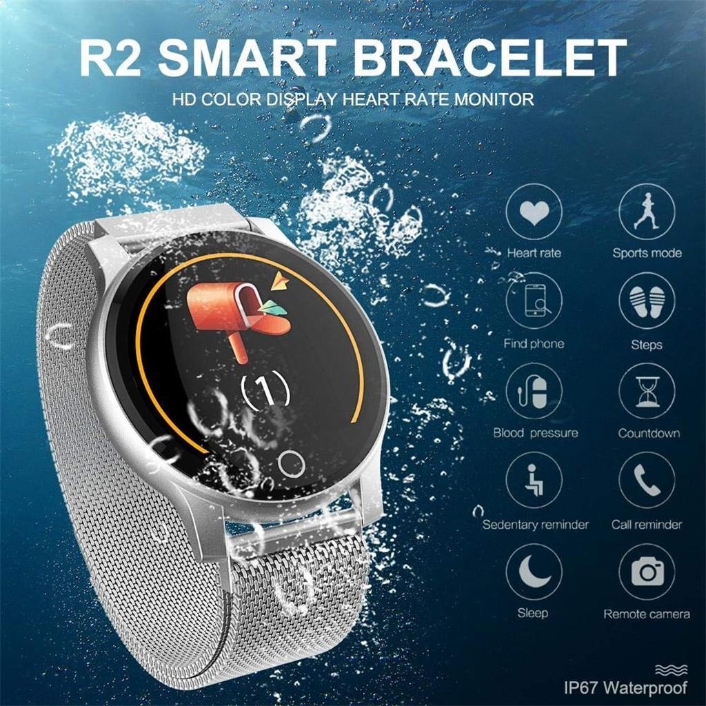 Fréquence cardiaque sport montre intelligente femmes pression artérielle bluetooth 4.0 smartwatch relogio feminino reloj mujer étanche
