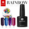 MSHARE 10ML UV Nail Gel Polish Art Decoration Long Lasting German Material Lacquer Varnish Manicure + Free Rhinestone