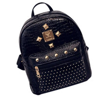 Woweino Attractive 2017 Women Leather Travel Backpack School Backpacks Mochila Gilrs Female School Bags High Quality