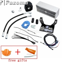 Chrome Motorcycles Reefer Complete Oil Cooler Assembly Fan Cooling System for Harley Touring 1999-2008