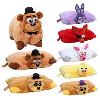 7pcs FNAF Plush 43cm*30cm Five Nights At Freddy's Pillow Mangle Foxy Chica Bonnie Golden Freddy Fazbear Plush Toys Cushion
