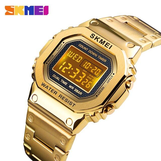 Часы наручные SKMEI мужские электронные светодиодные, цифровые брендовые Роскошные водонепроницаемые