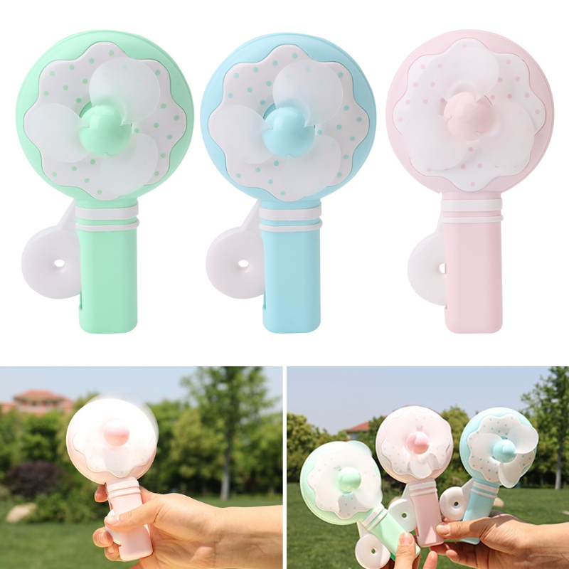 Portable Kids Toys Manual Hand Mini Fan Handheld No Battery Cooler Cooling Gift tri fidget hand spinner triangle metal finger focus toy adhd autism kids adult toys finger spinner toys gags