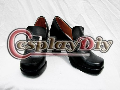Black Butler Ciel Phantomhive Cosplay Shoes Women's High Heeled Black Casual Shoes